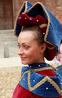 Italy, Piedmont, Asti, Palio, festival, people, historical costumes,