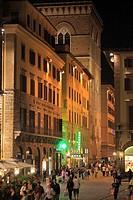 Italy, Tuscany, Florence, Orsanmichele, street scene, people,