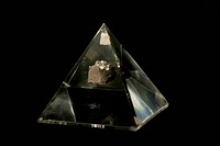 Moon rock sample. Museum specimen of anorthosite breccia, or moon rock, collected on the Apollo 16 mission in April 1972, and mounted in an acrylic bl...