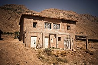 adobe house in the High Atlas, Azilal, Morocco