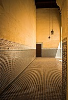 interior room of the mausoleum of Moulay Ismail, Meknes, Morocco
