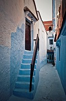 Stoop home, Chefchaouen, Morocco