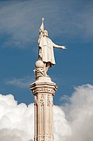 Christopher Columbus statue, Monument of Cristobal Colon, Plaza de Colon, Madrid, Spain