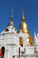 The chedi and stupas at Wat suan dok, Chiang Mai, Thailand