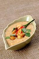 salsa di arachidi e peperoncino