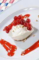 mini cheesecake with ribes berries