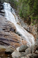 Crawford Notch State Park - Ripley Falls during the autumn months  Located along Avalanche Brook next in the White Mountains, New Hampshire USA  The A...