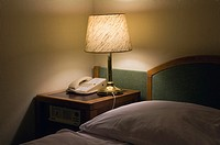 Lamp in Hotel Room