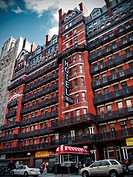 The North facade of the Chelsea Hotel, New York