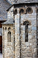 Apse of Romanesque church of Santa Maria - Taull - Boi - Vall de Boi - Pyrenees - Lleida Province - Catalonia - Cataluña - Spain