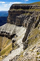 Cotatuero Cirque from the Faja de las Flores - Ordesa National Park and Monte Perdido - Torla - Ordesa Valley - Province of Huesca - Aragón Pyrenees -...