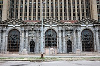 Reflecting the economic woes of Detroit, the Michigan Central Station