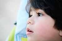 Handsome toddler boy profile