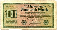 vintage german bank note