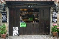 Typical grocer´s shop in the old town, Santillana del Mar, Cantabria, Spain