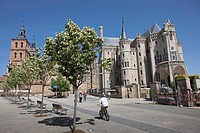 Episcopal Palace by architect Gaudi, Astorga, Castilla-Leon, Spain