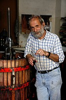 Local house wine maker, Oliena, Nuoro Province, Sardinia, Italy