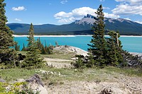 Abraham Lake In Alberta Canada.