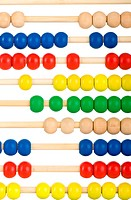Education concept _ Abacus with many colorful beads