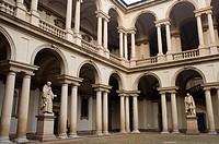 Pinacoteca di Brera art museum courtyard Brera district central Milan Lombardy region Italy Europe