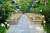 Terrace set up for wedding