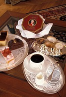 Austria, Salzburg. Coffee service