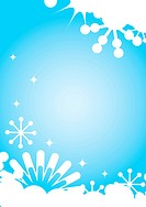 Christmas and New Year´s background with snowflakes