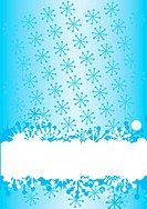 Blue winter background with snowflakes an space for your text