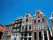 Ancient houses in Amsterdam, Netherlands