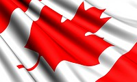 Flag of Canada. Close up.