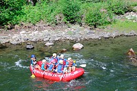 Rafting in Gallantin River, Montana, USA