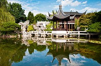 Lan Su Chinese Garden Vistas, Portland, Oregon, USA