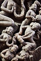 Detail of Dancing figural Hindu sculpture - British Museum