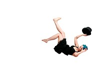 Falling Woman Wearing a Top hat