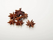 Chinese star anise on white background