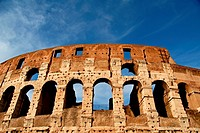 The Colosseum, originally the Flavian Amphitheatre, Rome, Lazio, Italy, Europe