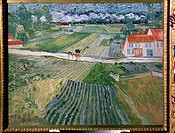 Landscape at Auvers after rain. Gogh, Vincent, van (1853-1890). Oil on canvas. Postimpressionism. 1890. State A. Pushkin Museum of Fine Arts, Moscow. ...