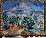 Mount Sainte-Victoire. Cézanne, Paul (1839-1906). Oil on canvas. Postimpressionism. 1896-1898. State Hermitage, St. Petersburg. 78,5x98,5. Painting.
