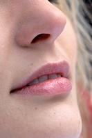 close _ up of a young woman«s face
