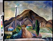 Crimean landscape. Falk, Robert Raphailovich (1886-1958). Oil on canvas. Russian avant-garde. 1914. State Art Museum, Nizhny Novgorod. 78,5x94. Painti...