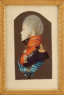 Portrait of Crown Prince Constantine Pavlovich of Russia (1779-1831). Rockstuhl, Peter Ernst (1764-1824). Watercolour, Gouache on cardboard. Classicis...