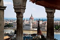 Europe, Hungary, Budapest, Cityscape with Parliament.One of the landmarks of the city