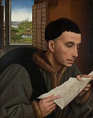 Man Reading. Weyden, Rogier, van der (ca. 1399-1464). Oil on wood. Early Netherlandish Art. c. 1450. National Gallery, London. 45x35. Painting.