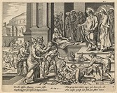 The Parable of Ananias and Sapphira. Visscher, Jan Claesz (c. 1550-1612). Etching. Baroque. Early 17th cen. . Private Collection. 20,9x26,4. Graphic a...