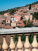 Panorama of Bormes Les Mimosas village, France
