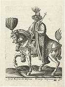 Grand Duke of Muscovy. Bruyn, Abraham de (1540-1587). Copper engraving. Medieval art. 1577. Rijksmuseum, Amsterdam. Graphic arts.