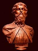 Grand Prince Vsevolod II Olgovich of Kiev. Anonymous . Bronze. Academic art. Tsaritsyno museum, Moscow. Sculpture.