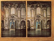 Throne Hall in the Moscow Kremlin. Schneider, Wilhelm (1839-1921). Stereo-Daguerreotyp. 1861. Private Collection. Architecture, Interior
