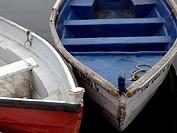 Skiffs to take fisherman to their ships in Marshfield, MA, USA