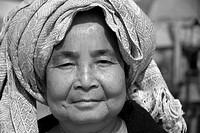 Face of a old Lao woman, Laos